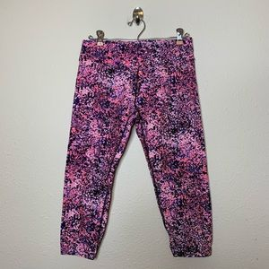 Calvin Klein Performance Pink Floral Crop Pants